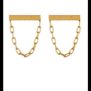 Madewell bar and chain post earrings .